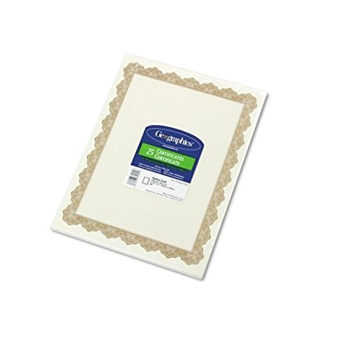 Optima Gold Border (Parchment Paper Certificates, Optima Gold Border, 25/Pack [Set of 2] by Geographics)
