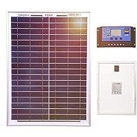Panel solar Dokio de 20 W para carga de baterías de 12 V con controlador