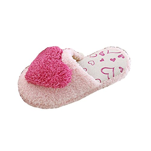Warm Shoes Winter Slipers Soft Cute Cartoon Plush Slippers Pink sKf4aM