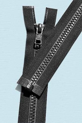 ZipperStop Wholesale Authorized Distributor YKK 29 Vislon Zipper ~ YKK #5 Molded Plastic ~ Separating - 580 Black (1 Zipper/ Pack)