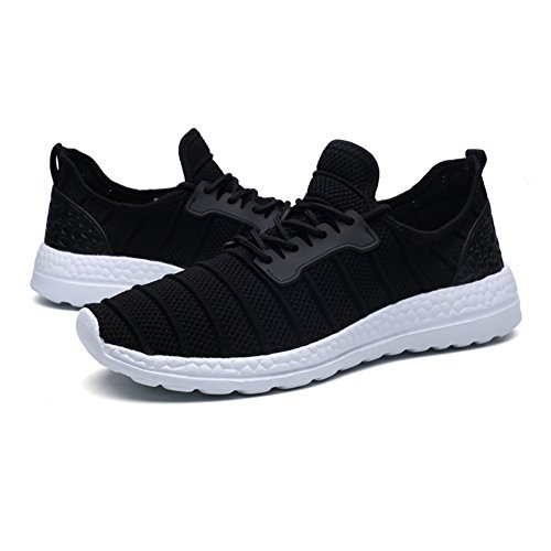 Casual Tulle Shoes Lace Fall Athletic Walking Spring Unisex up Gray Comfort Men's White HUAN B for Shoes Black Sneakers Shoes Lovers wPcxZgnEpq