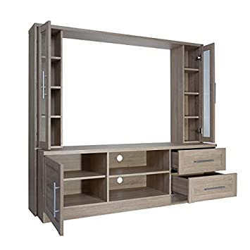 Techni Mobili RTA-1820A-SND Entertainment Center with Storage for TV s up to 50 , Sand