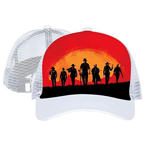 Team Gun Red Dead Redem-ption 2 3D Printed Hat Baseball Cap Adjustable Trucker Unisex Style Headwear (Red Dead Redemption Best Rifle)