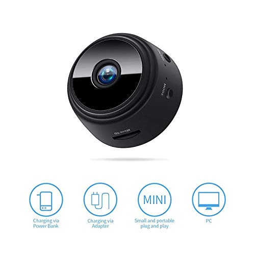 Amazon.com : Mini Spy Hidden Camera, HD 1080P Portable Small HD Nanny Cam with Night Vision and Motion Detective, Perfect Indoor Surveillance Security ...
