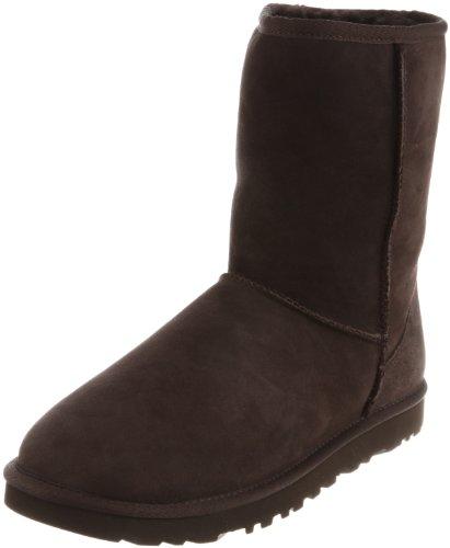 UGG Men's Classic Short Sheepskin Boots, Chocolate, Medium / 7 D(M) US by UGG