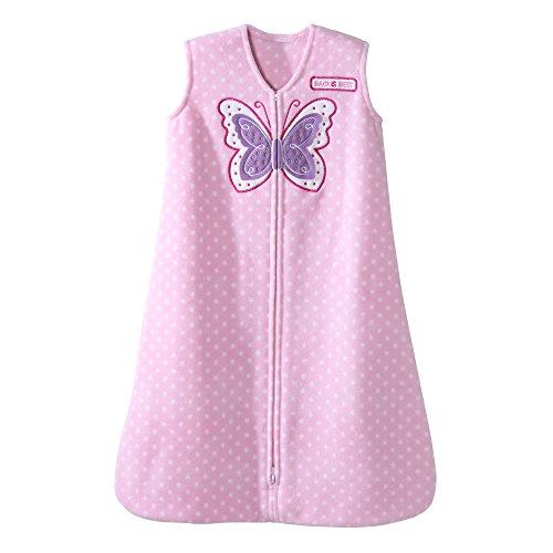 Halo Pink Dot Butterfly SleepSack Wearable Baby Blanket, Micro-Fleece, (Halo Pink Blanket)