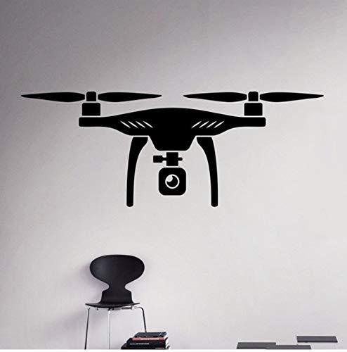 LSFHB Air Drone Wall Vinyl Decal Quadcopter Wall Sticker Aircraft Home Wall Art Decor Ideas Interior Kids Room Design 58X22Cm ()