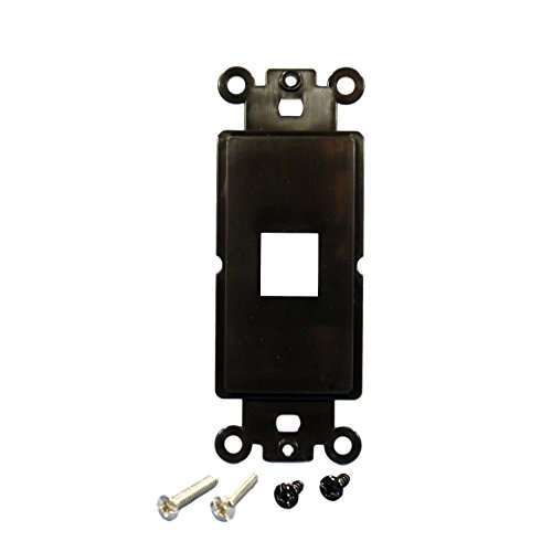 Cooper Wiring Devices 5521-5EBK Decorator Mounting Strap with 1 Port - Black