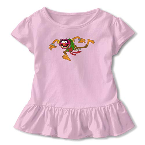 Children Animal Muppets Petticoat Falbala Girls T-Shirt Comic T-Shirt 2T Skirt Dresses 2-6T Pink]()