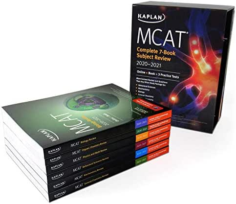 MCAT Complete 7-Book Subject Review 2020-2021: Online + Book + 3 Practice Tests (Kaplan Test Prep)