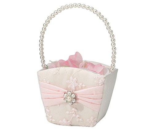 Lillian Rose Vintage Blush Pink Flower Girl Basket