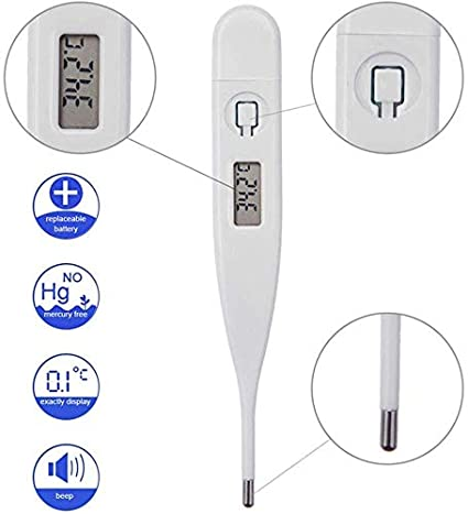 2pack Digital Thermometer,Magwei Oral Infrared Professional LCD Digital Thermometer for Baby Children,Mini Thermometer with Digital Display for Kids and Adult