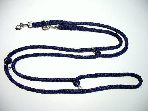 Hundeleine Doppelleine 2,80m 4fach verstellbar dunkelblau