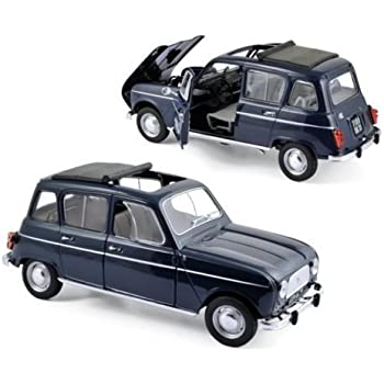 NEW 1:18 W/B NOREV COLLECTION - BLUE 1965 RENAULT 4 Diecast Model Car By Norev