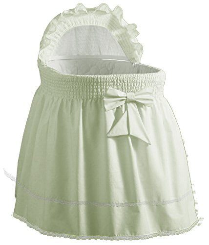 Baby Doll Bedding Neutral Sea Shell Bassinet Bedding for boy and girl, Mint (Center Baby Doll Nursery)