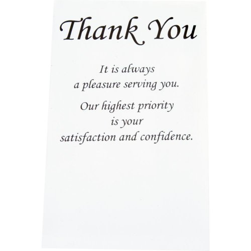 Black ''Thank You'' Envelopes - Size - 4X6-1/2X3 Pack Of 250 by American Tools