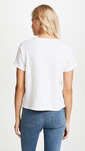 RE/DONE Women's Classic Sweetheart Tee, Vintage White, Medium by RE/DONE (Image #3)