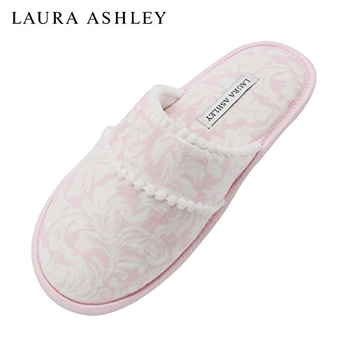 Laura Floral Printed Ladies Slippers Sole Memory Scuff Ashley Scuff Pink Foam amp; Trim Pom rqC7wrfT