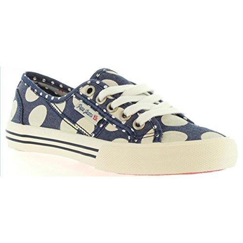 Pepe Lunar Bleu Sneakers Jeans Basses Baker Fille r8vOr