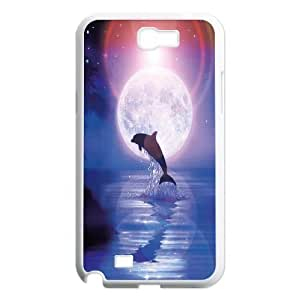 James-Bagg Phone case Love dolphins,cute dolphin pattern For Samsung Galaxy Note 2 Case FHYY429435