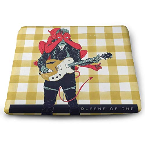 Trisharosew Queens of The Stone Age Villains Music Band Outdoor Square Cushion Memory Foam Seat Cushion Gift