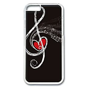 iCustomonline Heart in the Note Personalized Custom Hard Back PC Transparent Case for iPhone 6 (4.7 inch)