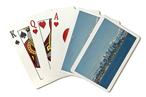 (Bellevue, Washington and Cascade Mountains Photograph A-91373 (Playing Card Deck - 52 Card Poker Size with Jokers))