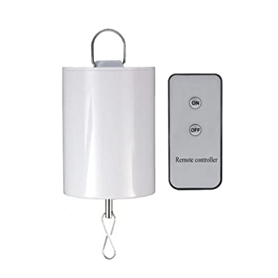FONMY Hanging Display Motor with Remote for Wind Spinner Ornament Hanging Decor Wind Chimes Baby Crib Mobile Battery Operated Motor-10 RPM Low Speed : Garden & Outdoor