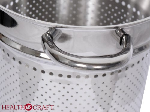 Health Craft Stainless Steel 6.5 Qt Deep Stockpot W/6 Qt Spaghetti Cooker Insert by Health Craft True Induction (Image #3)