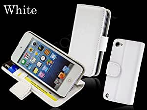 ID Card Window Flip Wallet Case for iPod Touch 5 (White)
