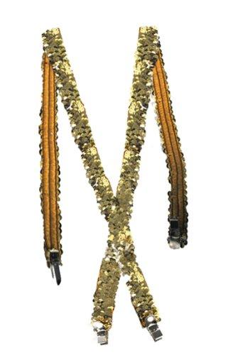 Gold Sequin Suspenders