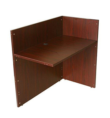 Boss Office Products N180-M Reception Return Shell in Mahogany