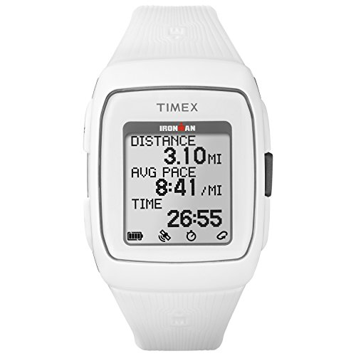 Timex Unisex TW5M11900 Ironman GPS White Silicone Strap (Timex Womens Fashion Watch)