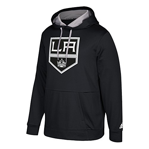 adidas NHL Los Angeles Kings Mens Authentic Pullover Hoodauthentic Pullover Hood, Black, ()