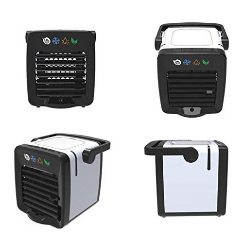 Air Cooler Personal Air Conditioner Cooler, Humidifiers, Portable Mini Size Table Fan with Aromatherapy USB Charging Mini Portable Air Conditioning Fan Home Refrigerator Cooler Nano Fan for Office