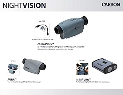 Carson Aura Digital Night Vision Monocular with Infrared Illuminator (NV-150) by Carson Optical, Inc :: Night Vision :: Night Vision Online :: Infrared Night Vision :: Night Vision Goggles :: Night Vision Scope