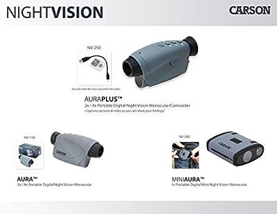 Carson AuraPlus 2x Power Digital Night Vision Camcorder with 8GB MicroSD Card (NV-250) by Carson Optical, Inc :: Night Vision :: Night Vision Online :: Infrared Night Vision :: Night Vision Goggles :: Night Vision Scope