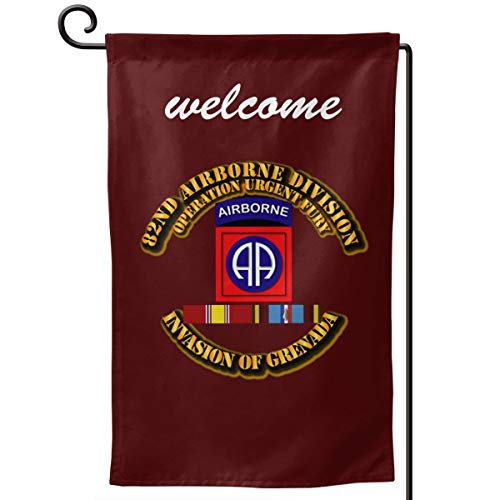 Garden Flag 12.5-18in Size Banner for House Decoration- 82nd Airborne Division Operation Urgent ()