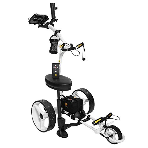 Bat Caddy X4R LITHIUM Battery Remote Control Electric Golf Bag Cart/Trolley-Whte