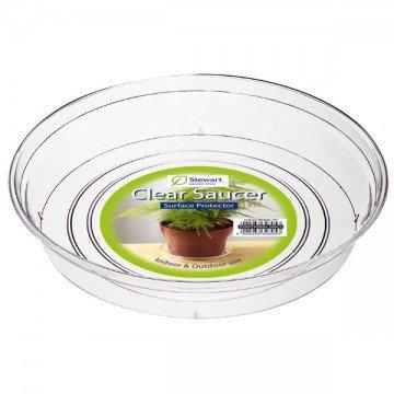 Clear Saucer for 13cm - 15cm Pot