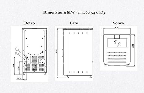 Brigitta 8/kW Schwarz micaceo DORO Pelletofen Mod