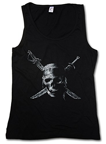 Price comparison product image Urban Backwoods Pirate Skull Woman Tank Top Gym Fitness Training Shirt - Sizes S - XL