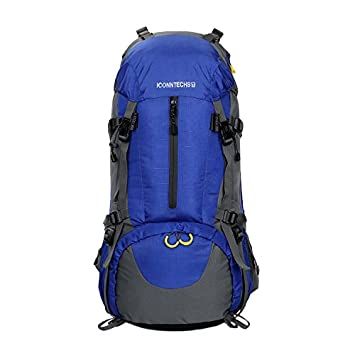 ICONNTECHS IT 50L Durable Travel Hiking Backpack, Great Backpacking Gear or Pack for Camping Hiking