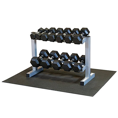Powerline PDR282X RFWS Dumbbell Rack with Rubber Dumbbells