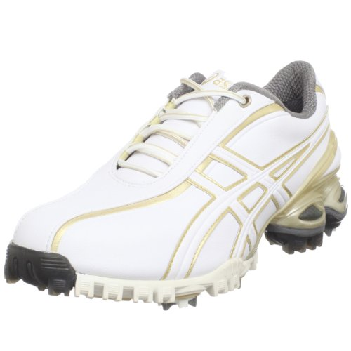 ASICS Women's Lady GEL-Ace Golf Shoe,White/Champagne Gold,9.5 M US