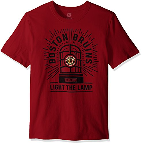 NHL Chicago Blackhawks Adult Men Light the Lamp S/Brushed Tee,Large,Red