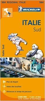 Carte Italie Sud Michelin