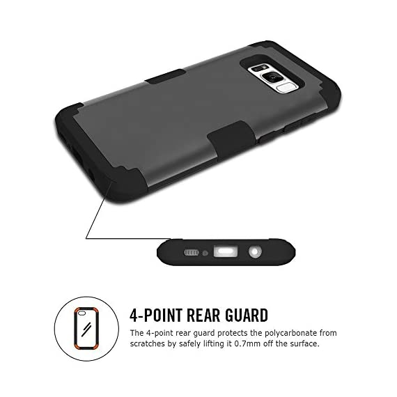Samsung Galaxy S8 Case, VPR 3 in 1 Hybrid Cover Hard PC Soft Silicone Interior Rubber Scratch Heavy Duty High Impact Shock Absorbing Protective Defender Case for Galaxy S8 2017 4 Only Fit For Samsung Galaxy S8 2017. Reinforced Corner Increase Shock Absorbing when your Galaxy S8 2017 is Dropping on the ground. Rubberized Polycarbonate Armor outer hard case plus Silicone Inner layer cushions and shields your phone from damage. Specifically design Protects the core openings of the phone, including volume controls, power button, and headphone jack.