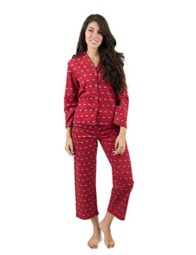 Leveret Womens Pajamas Flannel Pjs 2 Piece Christmas Pajama Set Elephant Size Small