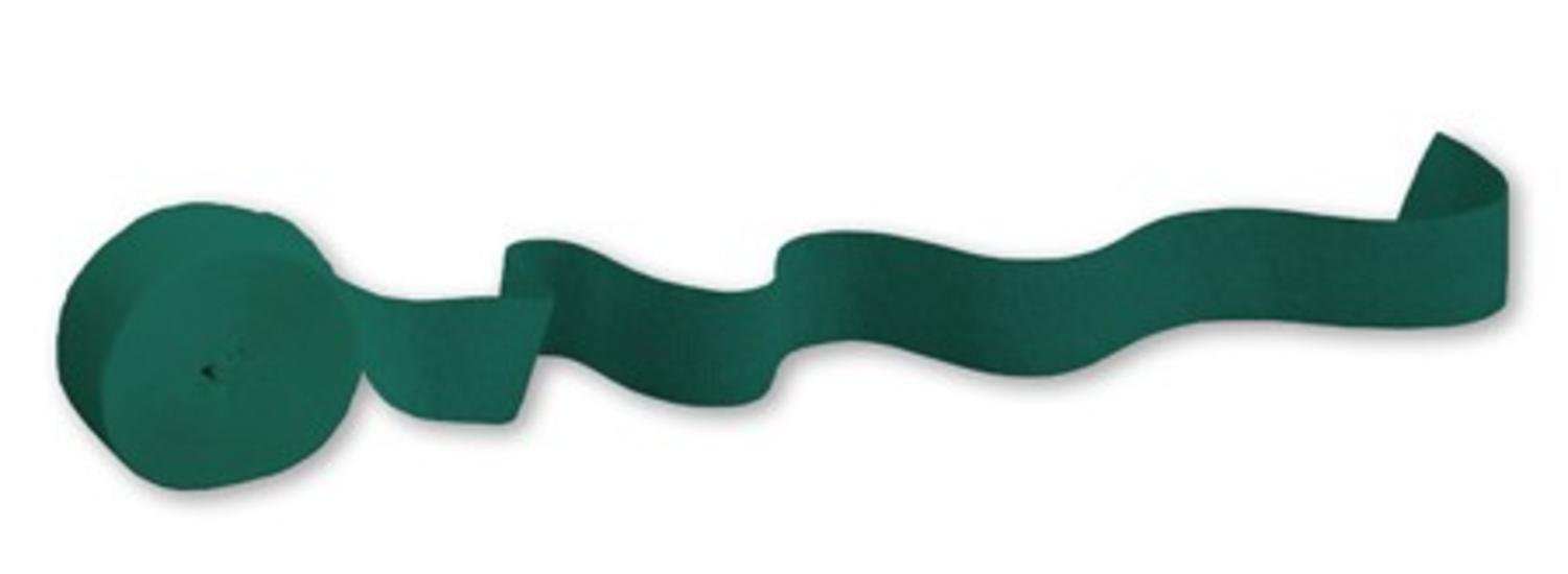 Club Pack of 24 Hunter Green Crepe Paper Party Streamers 81'